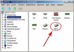 Раздел в котором можно узнать версию BIOS