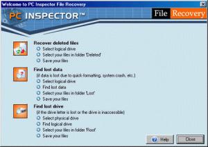 Запуск программы PC Inspector File Recovery